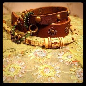 Leather + Hemp Bracelet Bundle